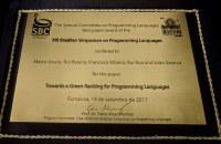 Artigo sobre eficiência energética em linguagens de programação recebe Best Paper Award